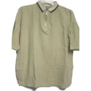 Vintage Silenzio Large Polo Shirt Pullover Zip